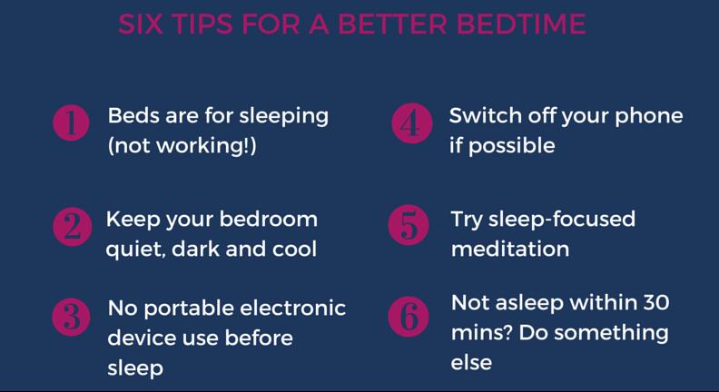 Six Tips Sleep Hygiene