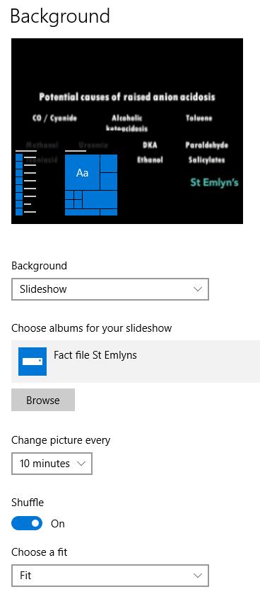 Background learning screenshot