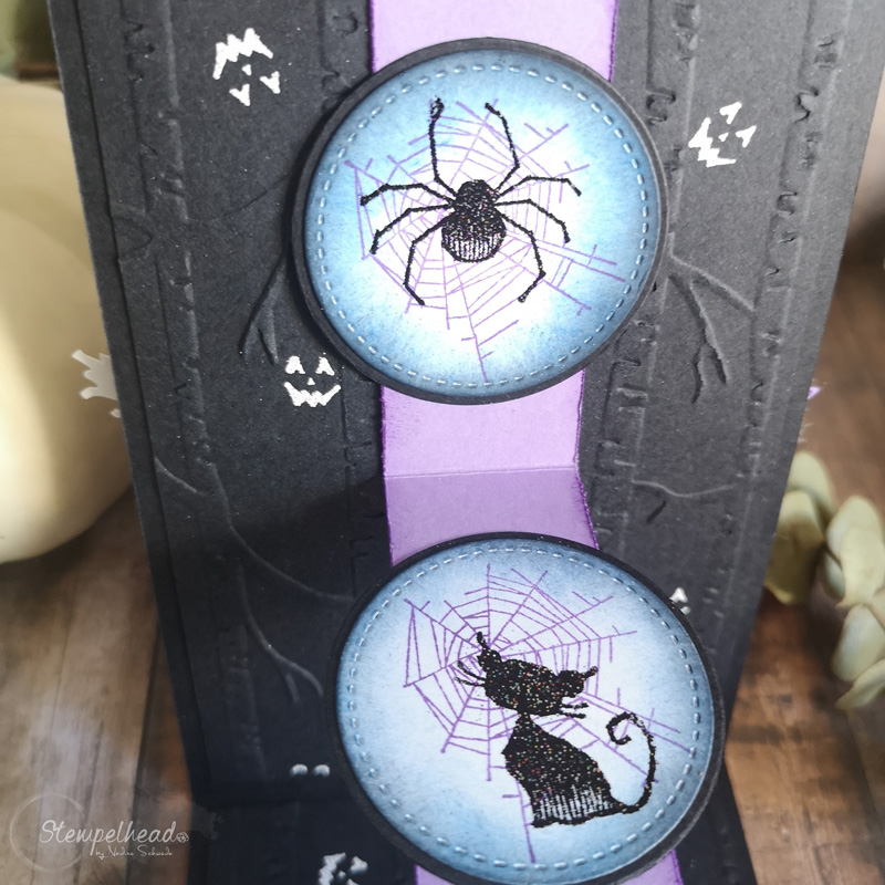 Halloween W Fold Card mit Wonderfully Wicked und The Raven von Stampin' Up! made by Stempelhead