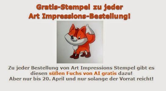 Gratis-Stempel zu jeder Art Impressions-Bestellung