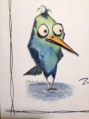 Bird Crazy Geburtstagskarte die Zweite