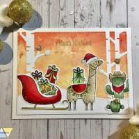 Weihnachten triff auf Distress Oxide Inks