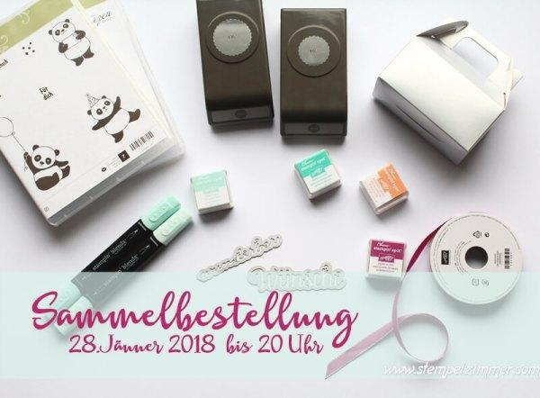 Stampin Up Sammelbestellung-Österreich-Stampin Up Produkte bestellen-Versandkosten sparen-Stempelzimmer