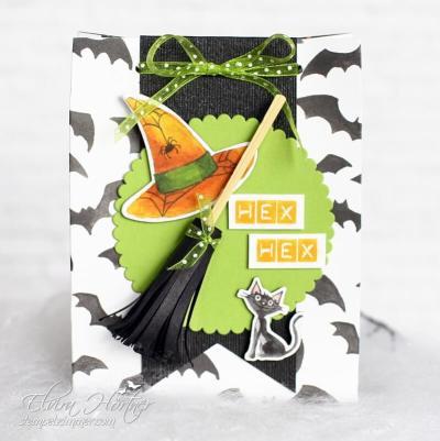 Hex Hex Hexenbesen-Stanzbrett fuer Geschenktueten-Hexenhut-Hexenbesen-Halloween-Goodies-Stampin' Up! Stempelzimmer-Blog-Oesterreich