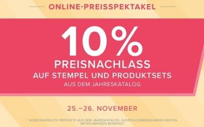 10 Prozent Rabatt auf Stempel von Stampin' Up!-Online-Preisspektakel-Aktion