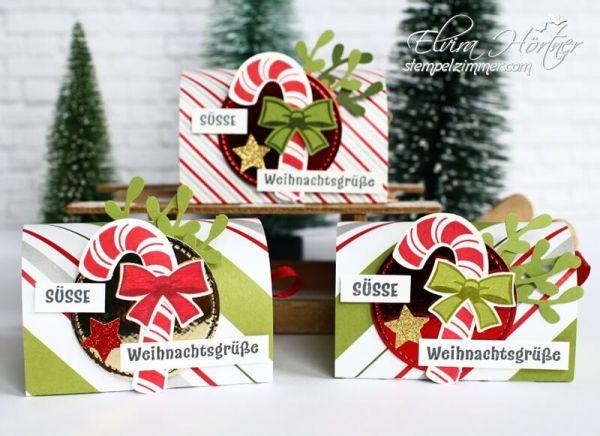 Lebkuchenverpackung-Stanze Zierzweig-Zuckerstange-Goodies zur Weihnachtszeit-Stampin Up