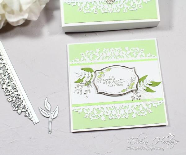 Hochzeitskarte mit feiner Spitze von Stampin Up!-Elviras Stempelzimmer