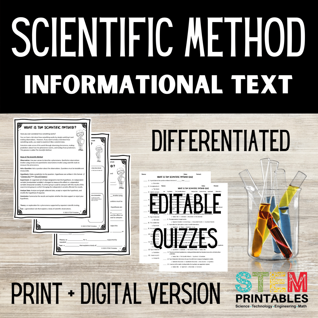 Scientific Method Differentiated Reading Passages
