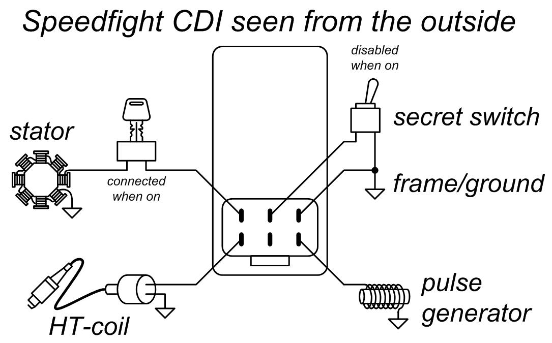 scooter cdi wiring diagram moped cdi circuit scooter cdi wiring diagram #13