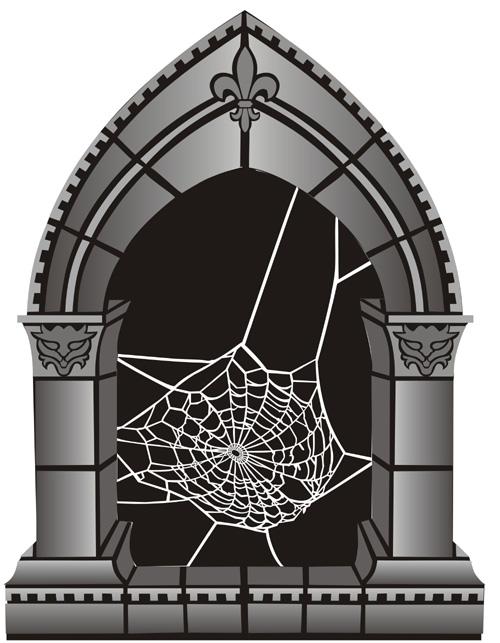 Arch And Cobweb Gothic Stencil Design From Stencil Kingdom