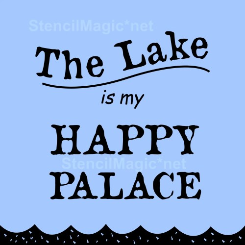 Lake/Happy Sign