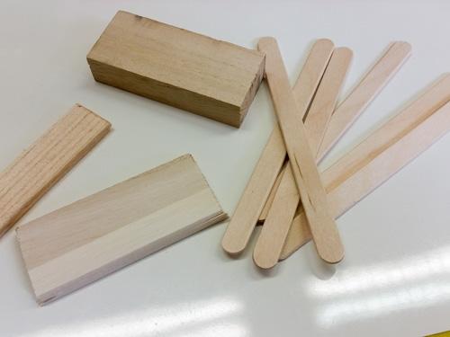 DIY Kids Craft Kalimba Materials