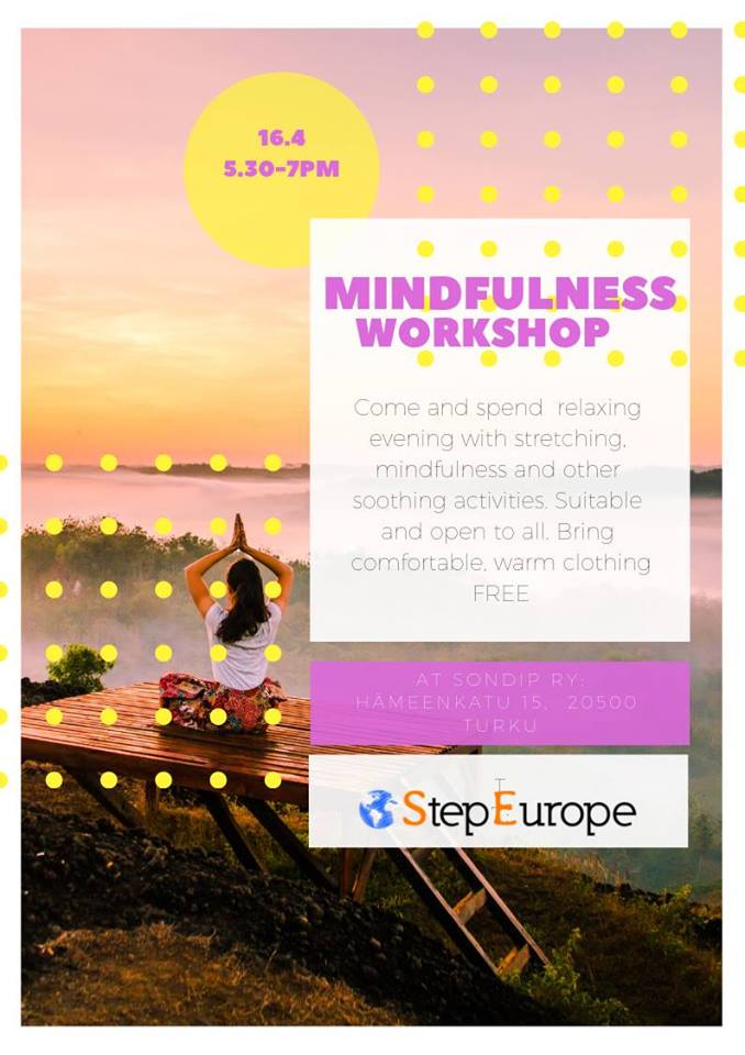Free Mindfulness workshop 16.4