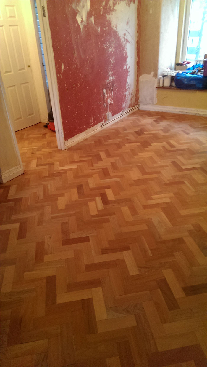 Sapele Reclaimed Parquet Laid In Leytonstone Step