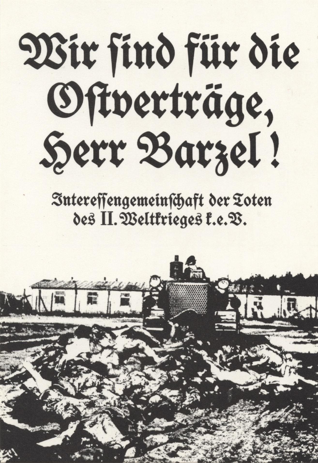Klaus Staeck, Plakat Ostverträge 1972