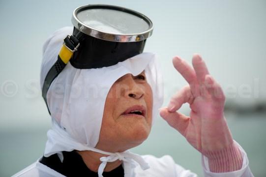 Sayuri lors du Mikazuki shinji - Kuzaki