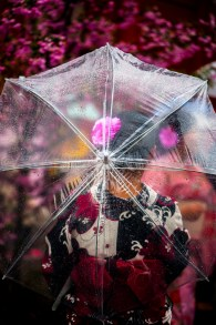Derrière le parapluie