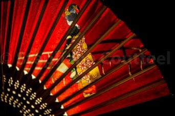 Eventail geisha
