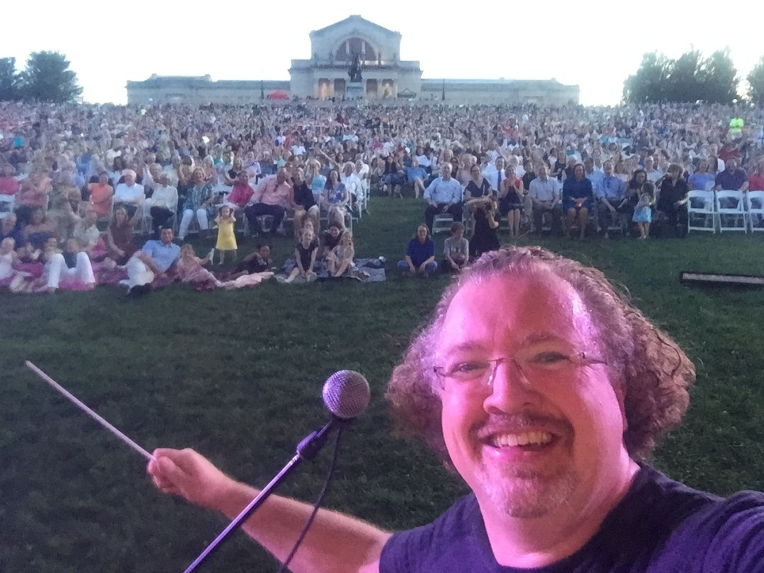 Stéphane before the annual Forest Park concert