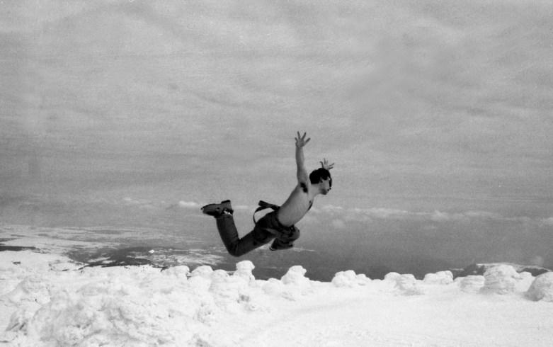 Stéphane au Mont Meyzenc, photo prise par Thomas