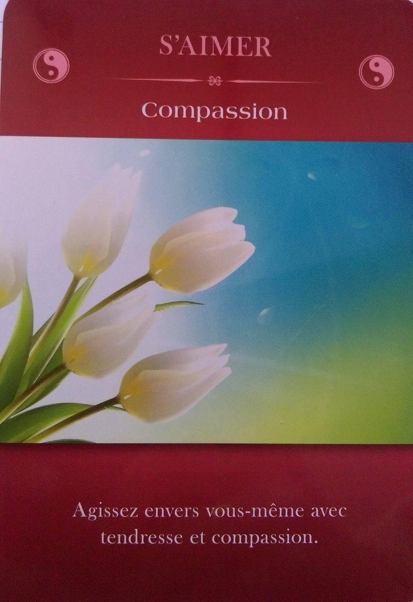 S'aimer - La compassion - Cartes d'Inspiration Aimer sa Vie - Marc Babin et Sylvie Goudreau