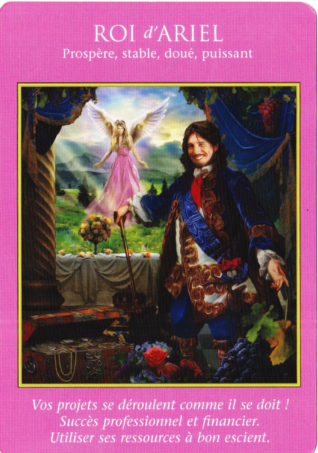 Roi d'Ariel - Tarot des Archanges - Doreen Virtue