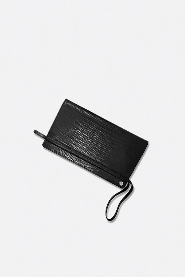 pochette éventail noir Césaire