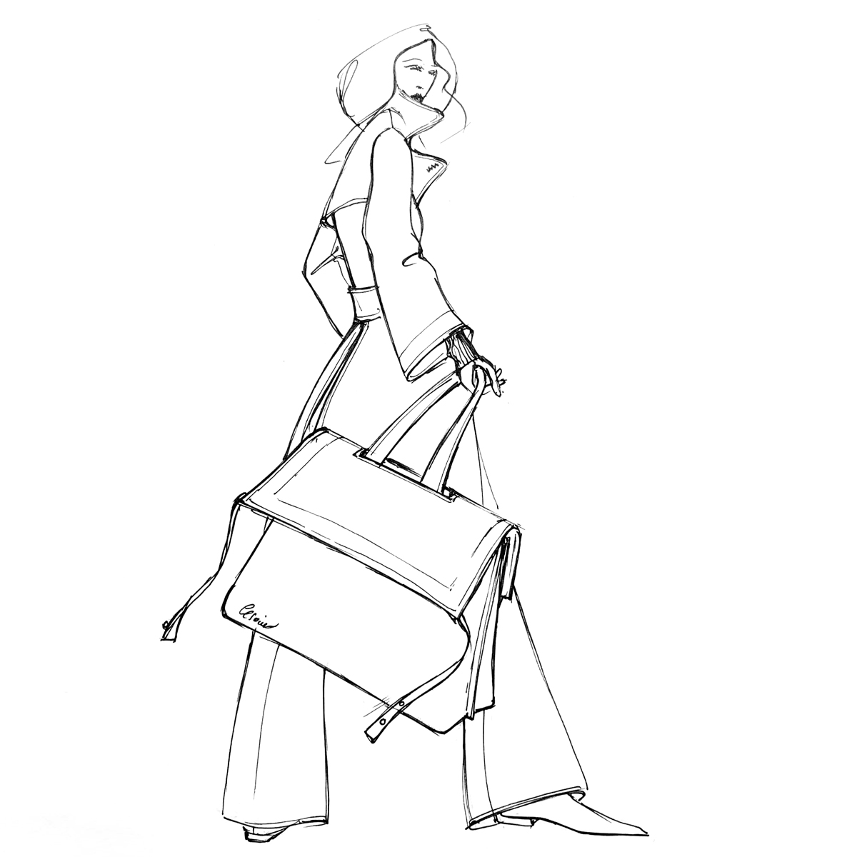 Fashion and trendy designer bags made in France