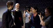 Film Crew Interviewing King Claudius