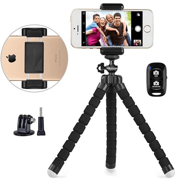 smartphone tripod for streaming live on facebook or youtube