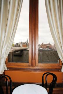 view over Amsterdam from Centraal station