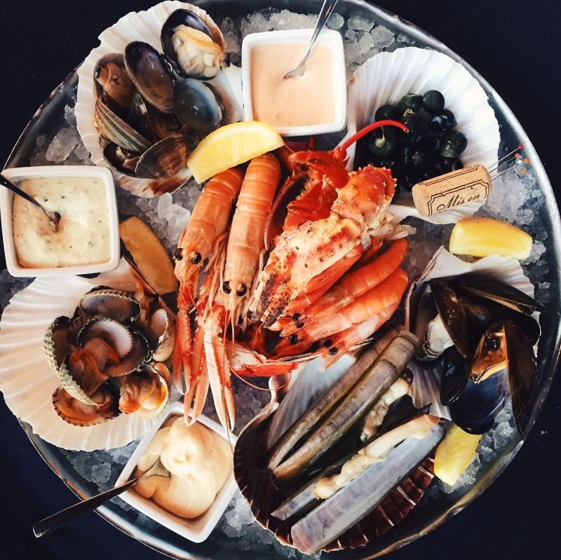 Seafood platter at Hoofdstaad brasserie