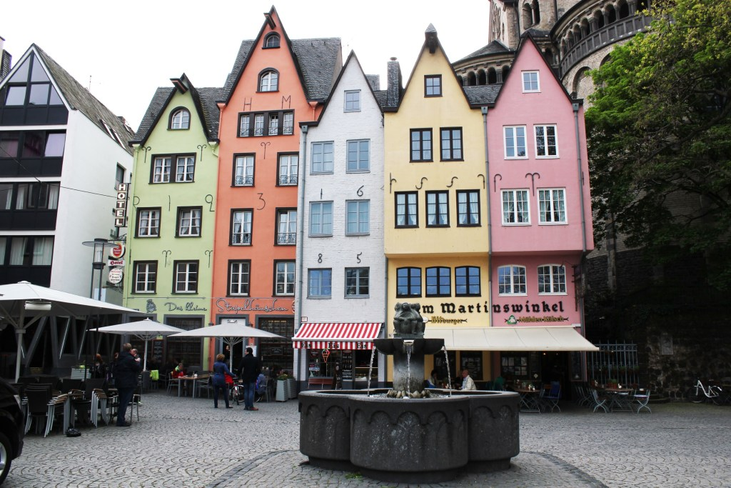 Colourful houses of Cologne