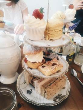 Afternoon tea at Great British Cupcakery
