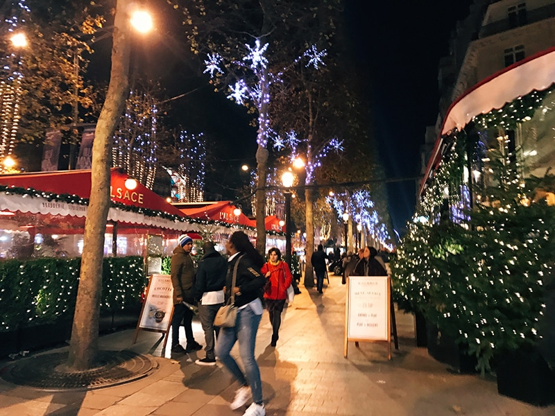 Champs Elysees Christmas Market