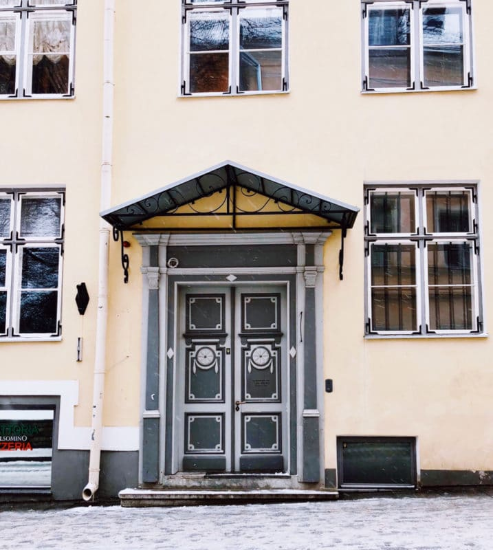 Colourful doorways of Tallinn