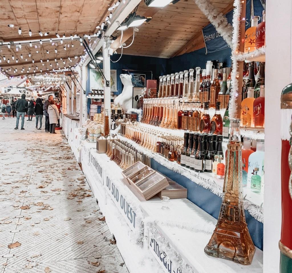 paris christmas market chalet