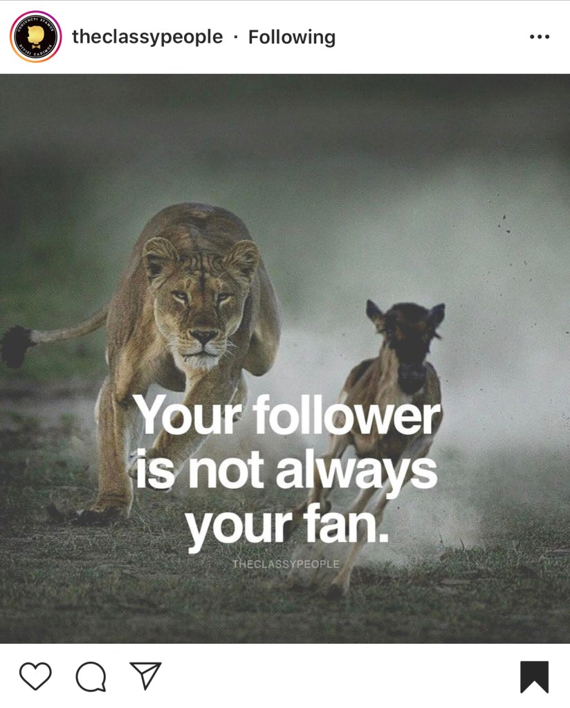 follower is not your fan