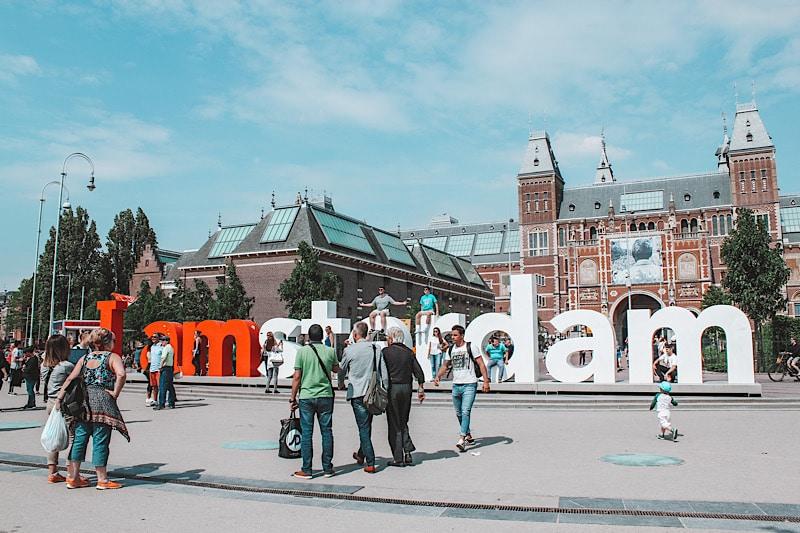 Amsterdam sign at Rijksmuseum