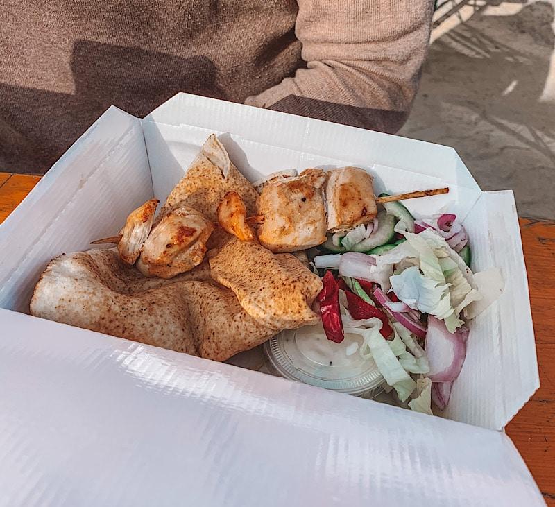 Kebab box at beach box jesmond