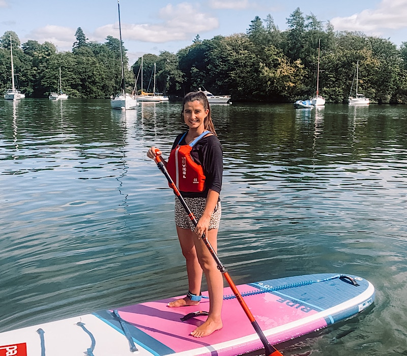 Paddle boarding on Lake Windermere