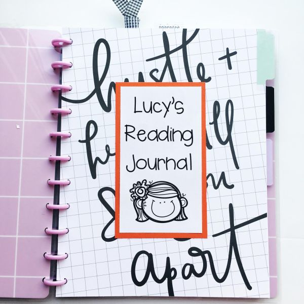 Using #HappyPlanner products to make #ReadingJournals // via Stephanie Howell