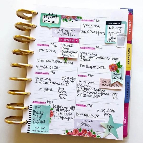 Simple #HappyPlanner Ideas // via Stephanie Howell