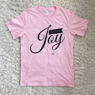 Choose Joy Soft Pink Tee