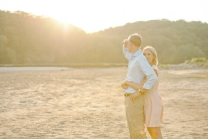 Palisades Keppler Iowa engagement session during sunset.