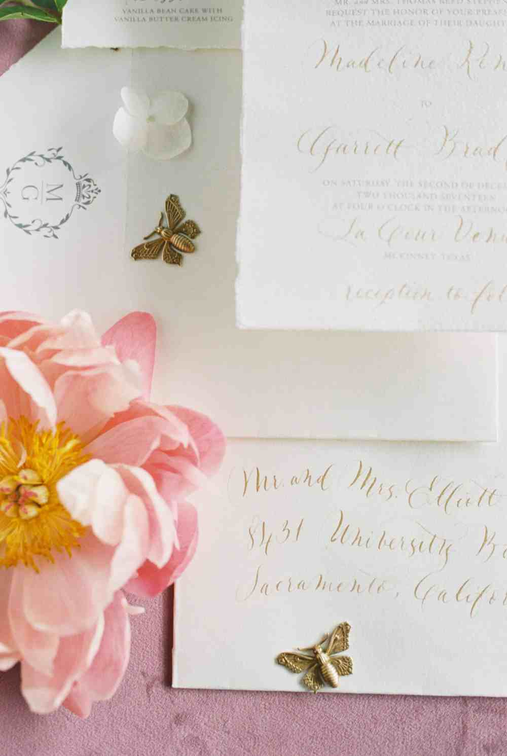 Invitation Suite Flatlay from Scribbles and Swirls