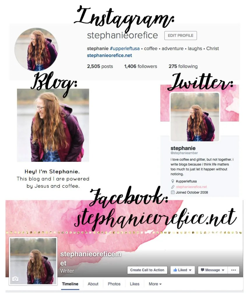 social media profile pictures // stephanieorefice.net