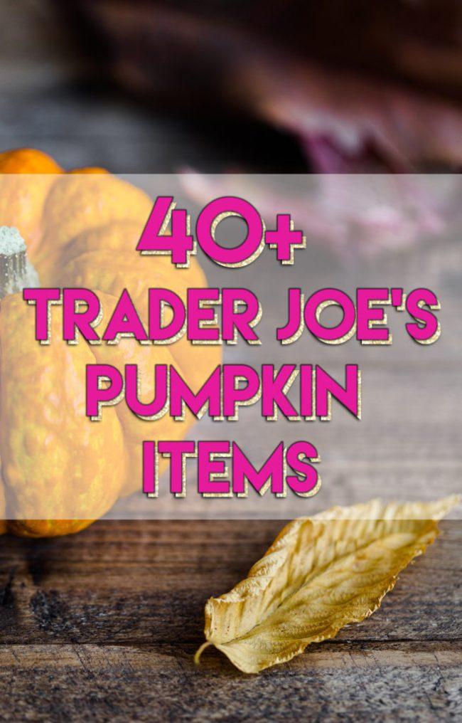 40+ Trader Joe's Pumpkin Items // stephanieorefice.net