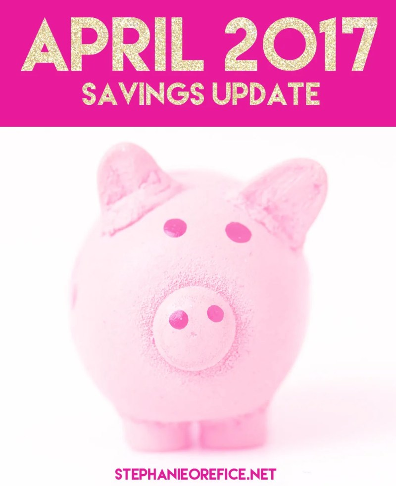 April savings update // stephanieorefice.net
