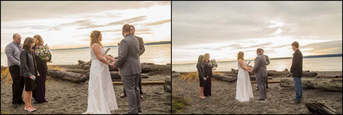 Buck Wedding 102 WATCHING SUNSETS TOGETHER |  BEACH ELOPEMENT WEDDING EDMONDS, WA